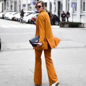 Zara || Mustard Belted Blazer Jacket